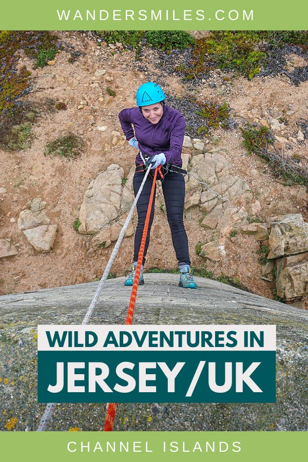 Abseiling down the old observation tower at Noirmont Point with Wild Adventures in Jersey, Channel Islands
