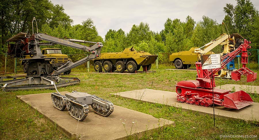 Robots used in the Chernobyl clean up