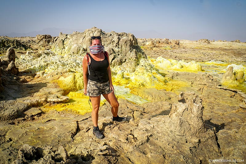Sulphuric smells at the Dallol volcano, Danakil Depression