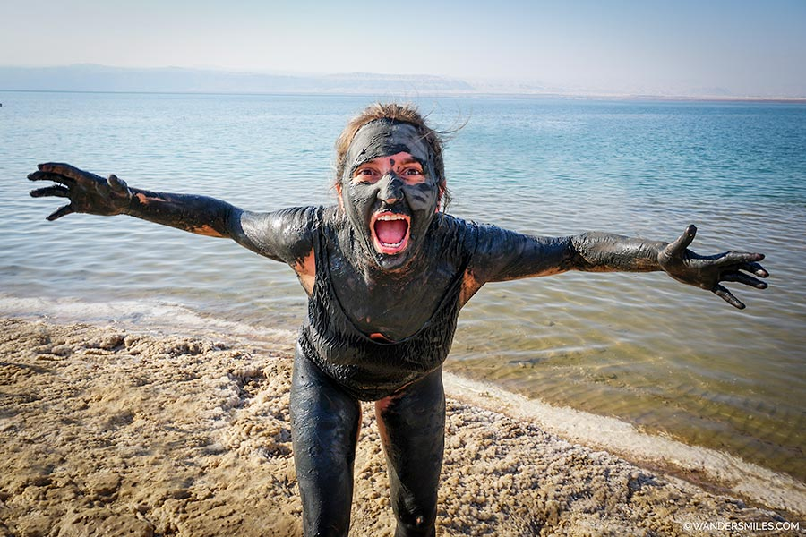 Covered in mineral mud - getting the Dead Sea experience in Jordan