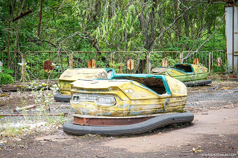 Dodgems at Pripyat amusement park
