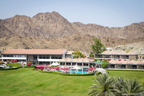 JA Hatta Fort Hotel nestled into the Hajar mountains | UAE