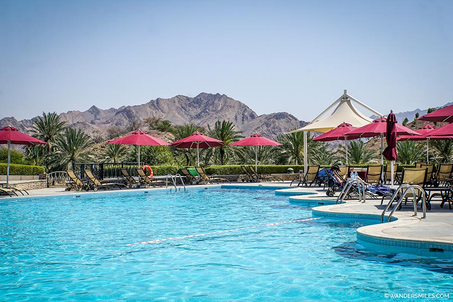 Adult swimming pool at JA Hatta Fort Hotel