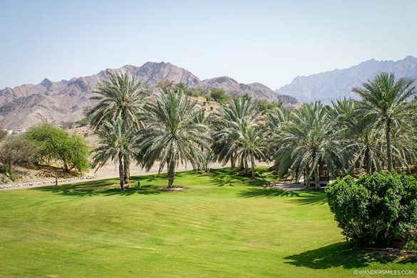 Mountain views from the chalets at Hatta Fort Hotel