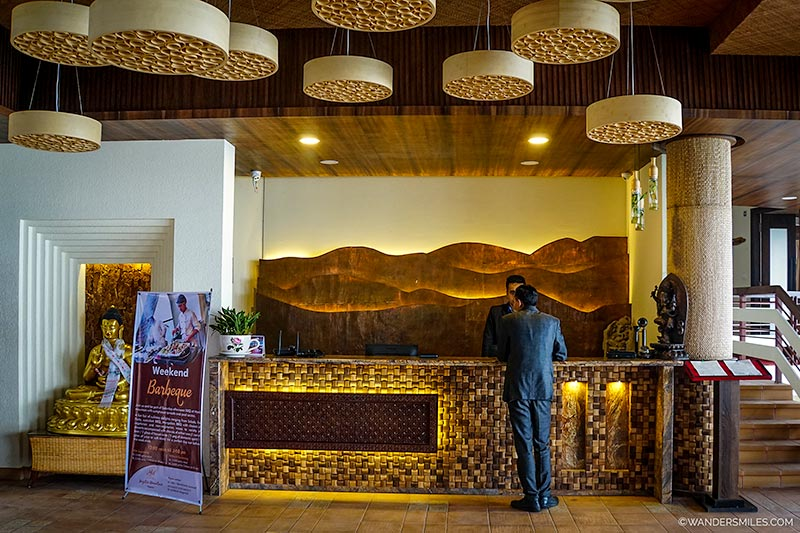 Lobby area of the Hotel Mystic Mountain in Nagarkot, Nepal