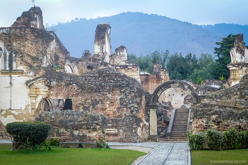 Iglesia y Convento de la Recoleccion monastery in Antigua, Guatemala