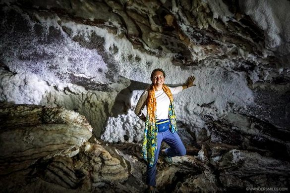 Inside the worlds longest salt cave called Namakdan Salt Cave in Qeshm