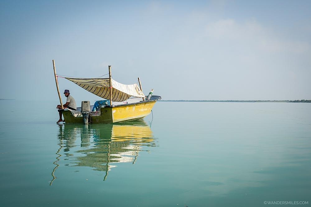Fisherman in the Hara Mangroves in Qeshm Island