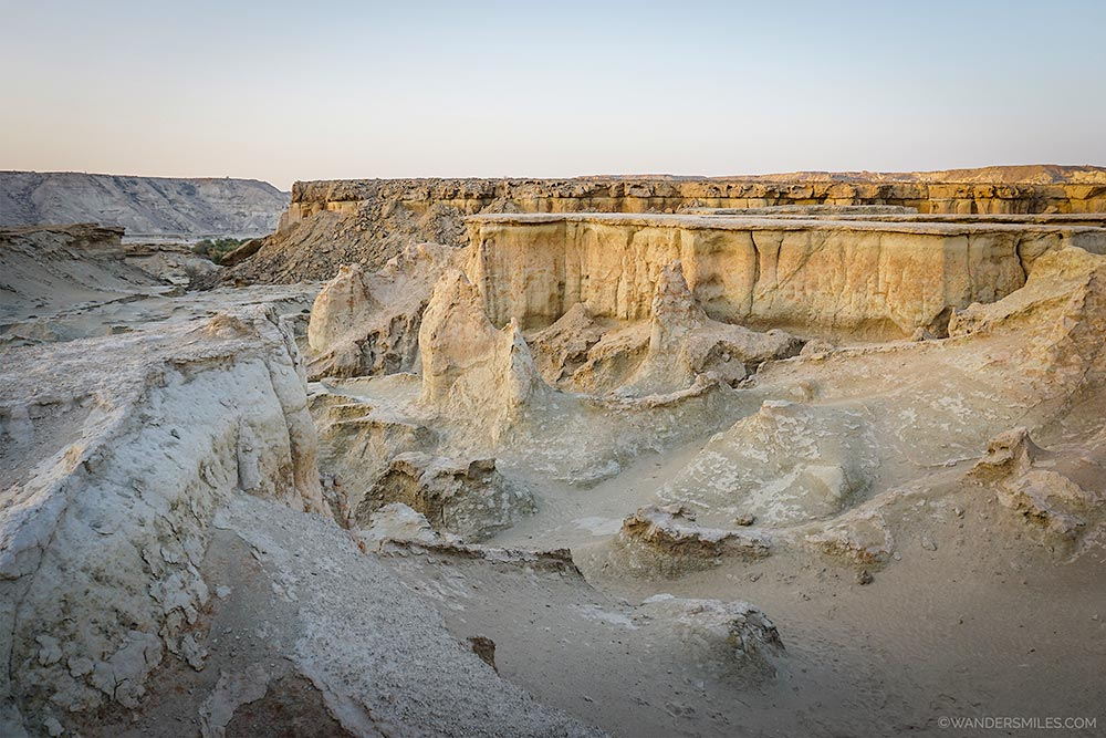 Rock formations at Fallen Star Valley in Qeshm