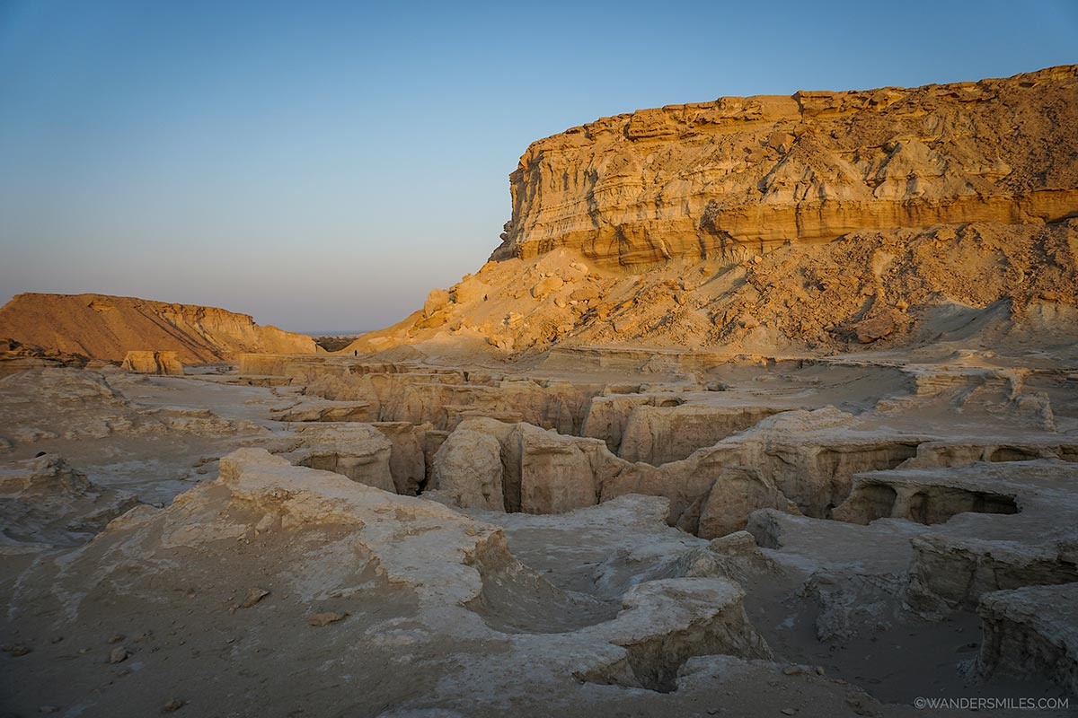 Sunset at the Valley of the Fallen Stars in Qeshm, Iran