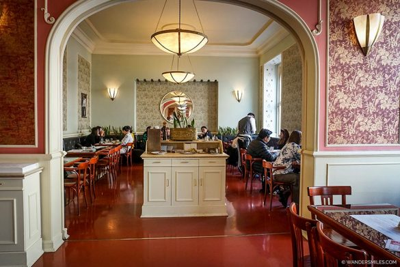 100-year-old Cafe Louvre in Prague