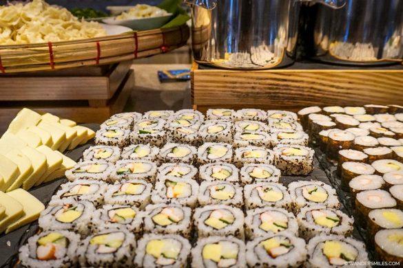Sushi at Breakfast at the Pan Pacific Yangon
