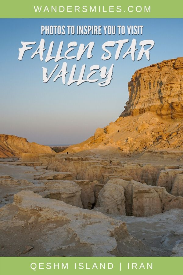 Photos to inspire you to visit the stunning Fallen Star Valley on Qeshm Island