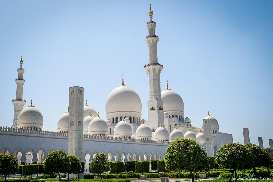View of Sheikh Zayed Grand Mosque from the outside