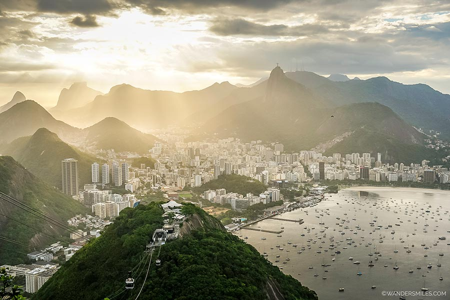 Sunset on Sugarloaf Mountain in Rio de Janeiro, Brazil