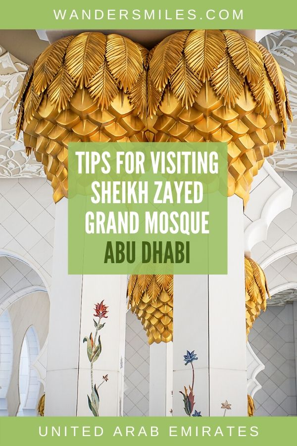 Guide on visiting the Sheikh Zayed Grand Mosque in Abu Dhabi