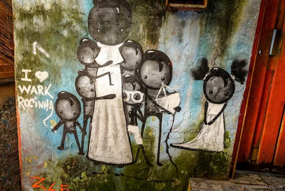 Murals by Wark Rochinha in Rio's largest favela