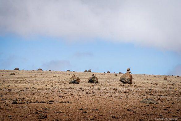 Alpine desert near Kibo Huts, Kilimanjaro