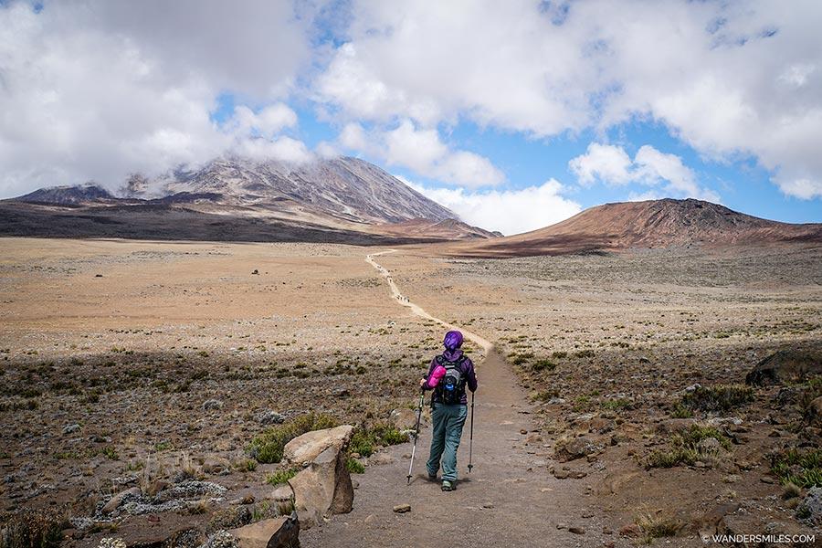 Trek to Kibo Huts, Kilimajaro
