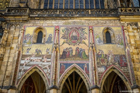 Last Judgement Mosaic on St. Vitus Cathedral in Prague Castle