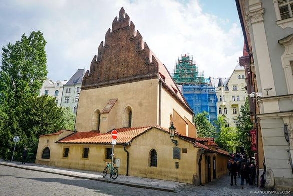 Old New Synagogue in Prague's Jewish Quarter