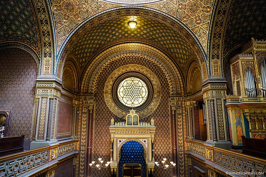 Interior of Spanish Synagogue in the Jewish Quarter of Prague