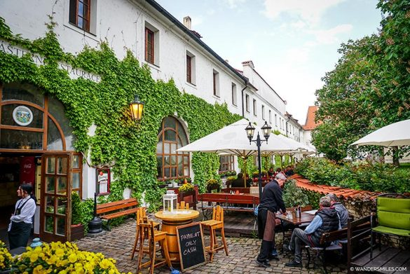 Strahov Monastery Brewery courtyard in Prague