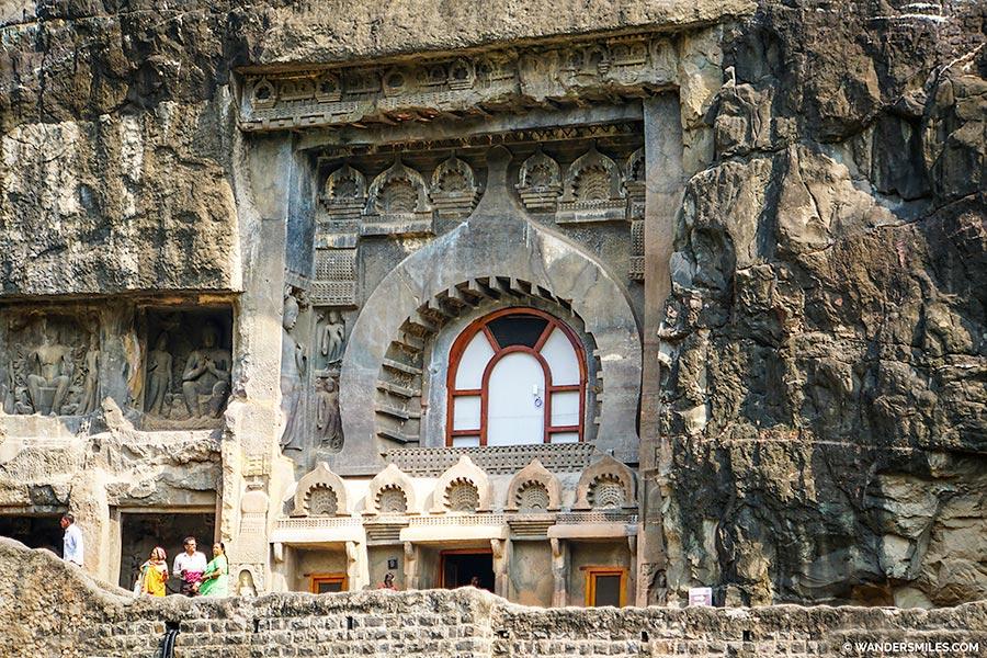 Exterior of Cave 9 of Ajanta Caves, Maharashtra