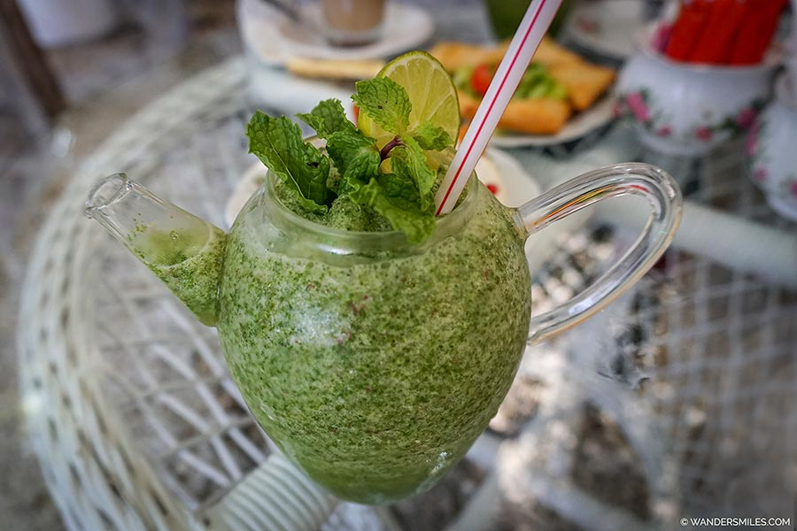 Lime and Mint Juice at Arabian Tea House in Old Dubai