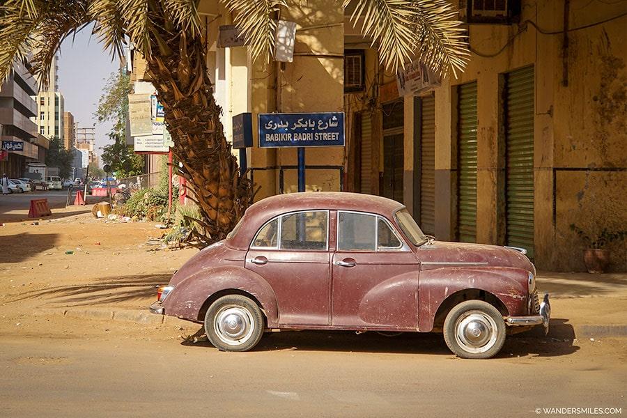 Babikir Badri Street in Khartoum opposite Acropole Hotel