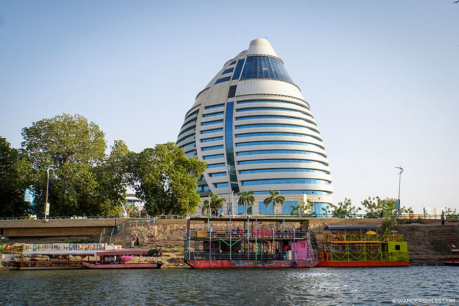 Burj al Fateh Hotel from the Nile in Khartoum