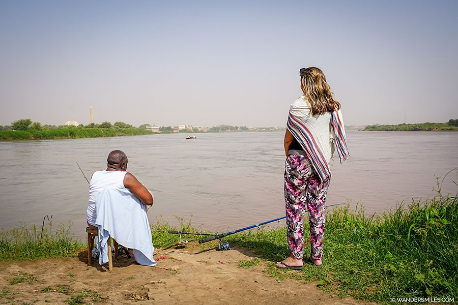 Stand at the confluence of the Nile in Khartoum