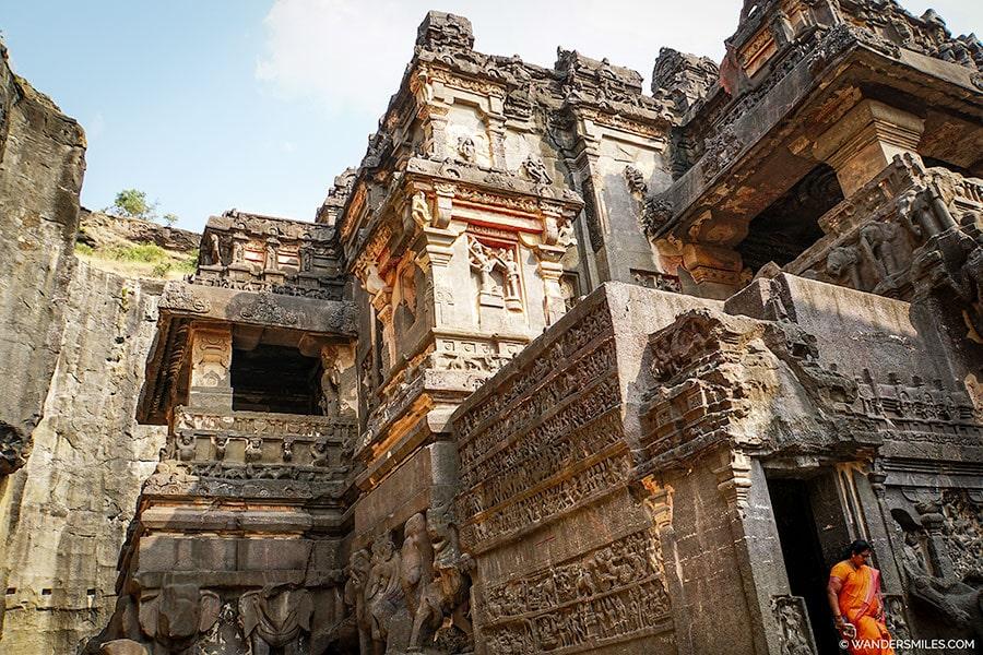 Ellora Cave Temples in Maharashtra state, India