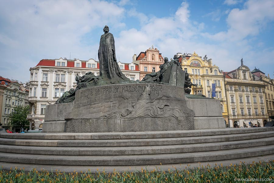 Jan Hus Memorial in Old Town Prague