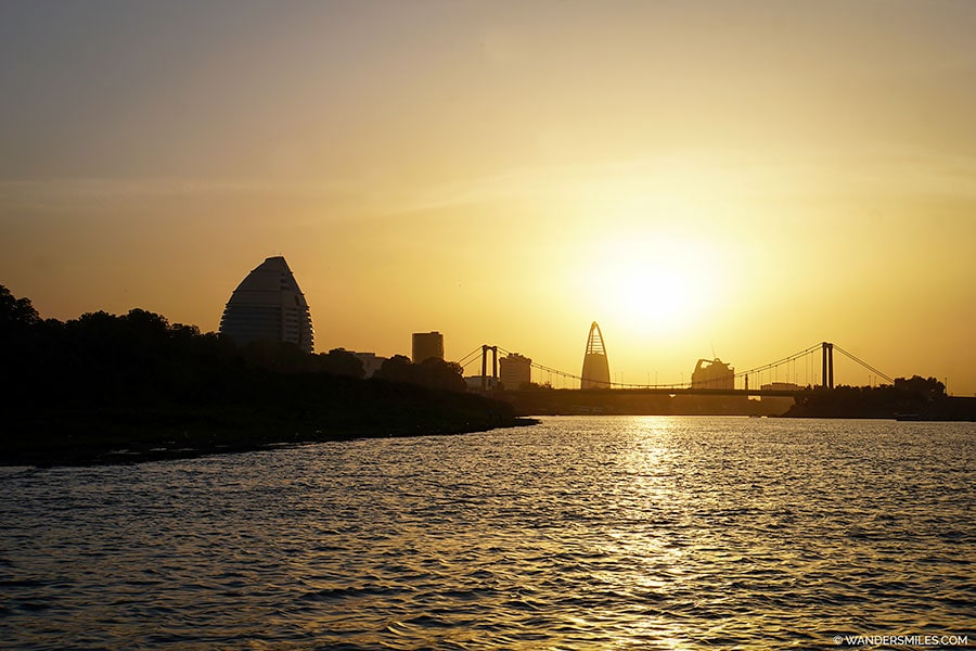 Sunset on Nile in Khartoum