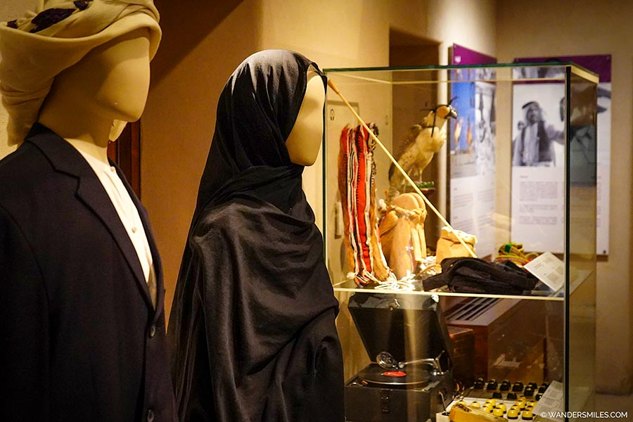 Artefacts and Islamic dress in the Sharjah Heritage Museum
