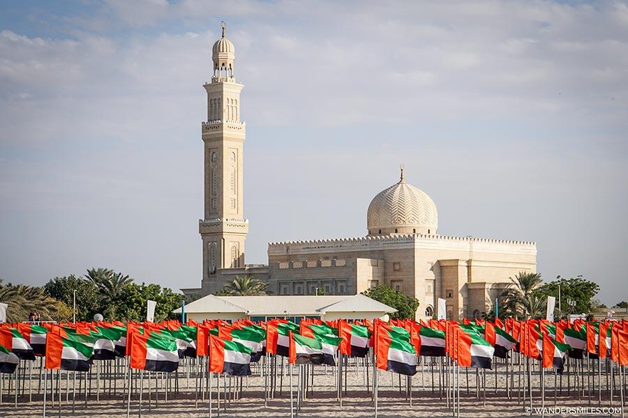 Jumeirah Mosque on National Day in Dubai
