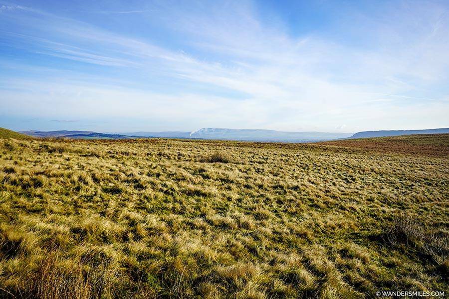 View of Easington Fell, Pendle Hill & Longridge Fell