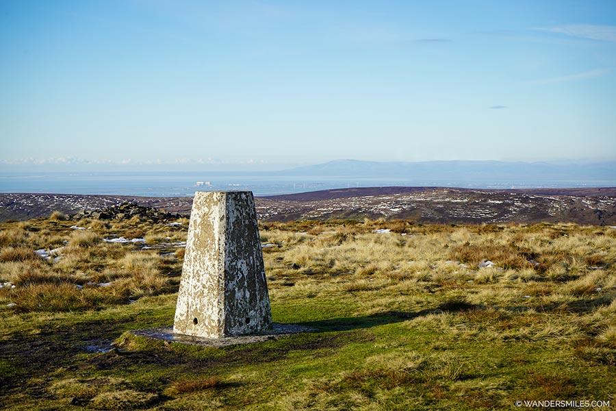 Trig point on Fair Snape Fell, Trough of Bowland