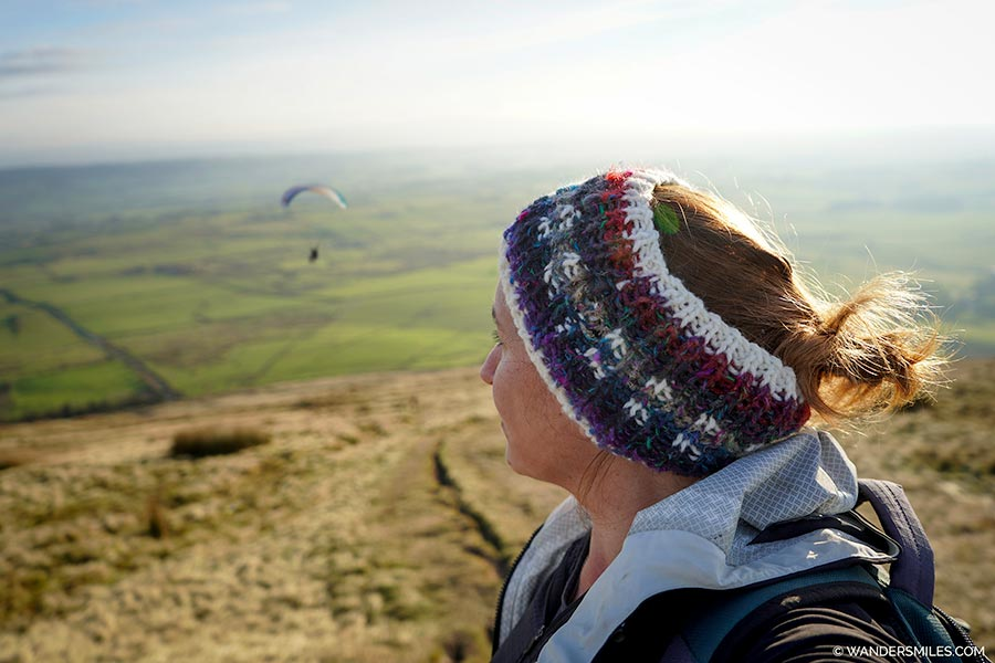 Watch the paragliders on Parlick Pike