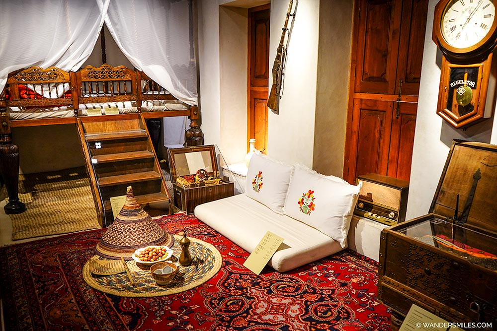 Bedroom in the museum of Al Hisn Fort in Sharjah