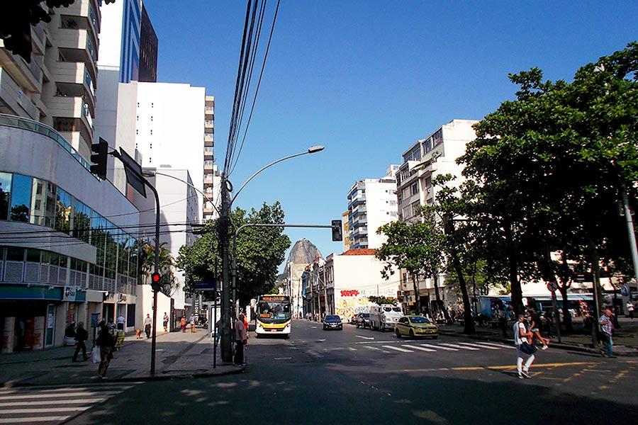 View from Vila Carioca Hostel along Botafogo Road, Rio de Janeiro