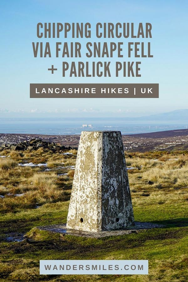Hiking Chipping Circular Walk via Fair Snape Fell and Parlick Pike in Lancashire