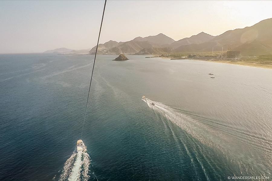 Parasailing in Khor Fakkan / Fujairah in UAE