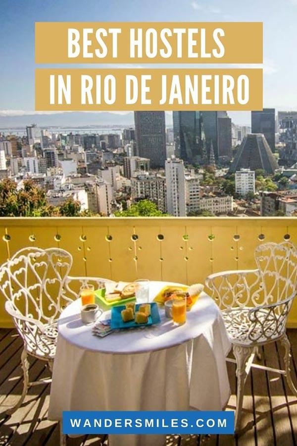 Discover the best hostels in Rio de Janeiro
