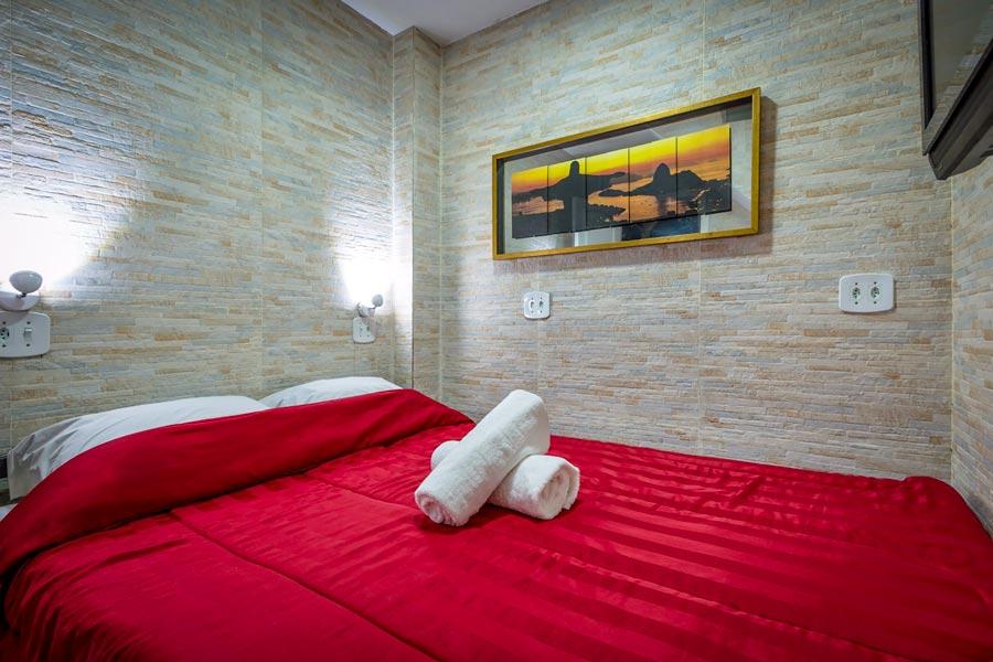 Private room at Casa del Mar Hostel, Rio de Janeiro