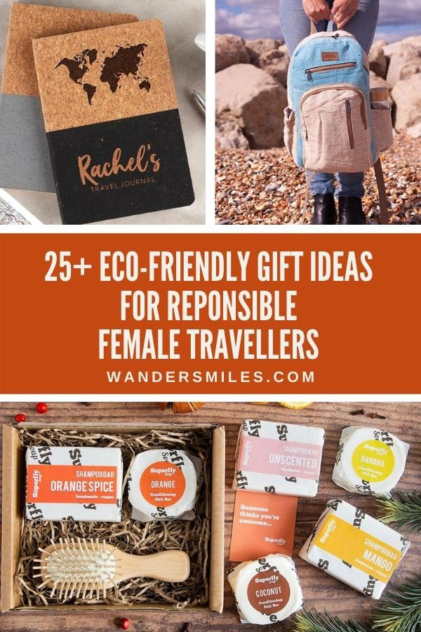 Sustainable eco-friendly gifts ideas for responsible female travellers