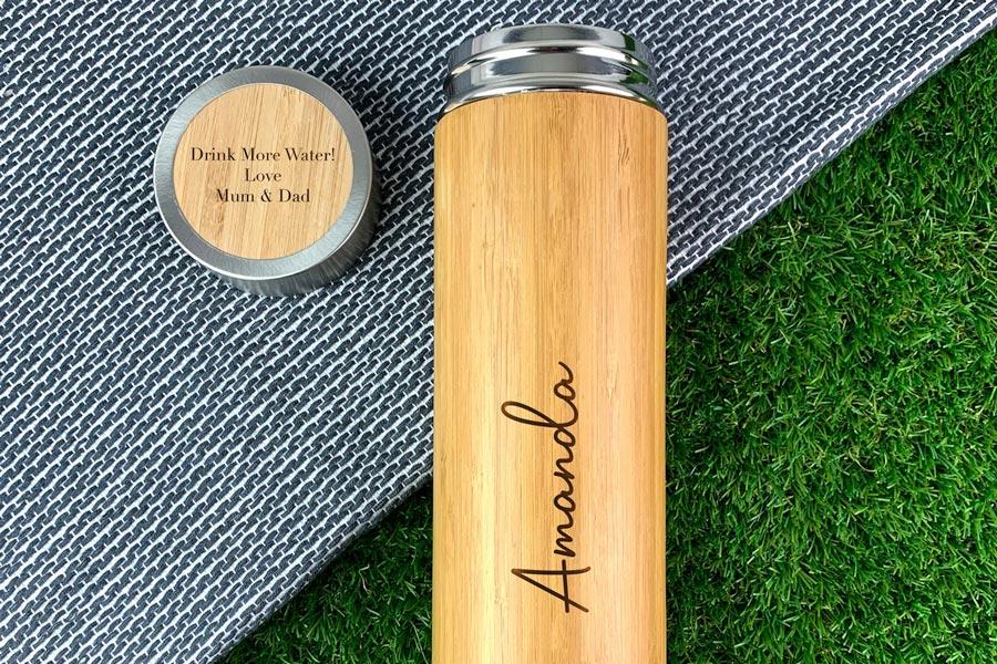 Personalised-Eco-Bamboo Travel Flask