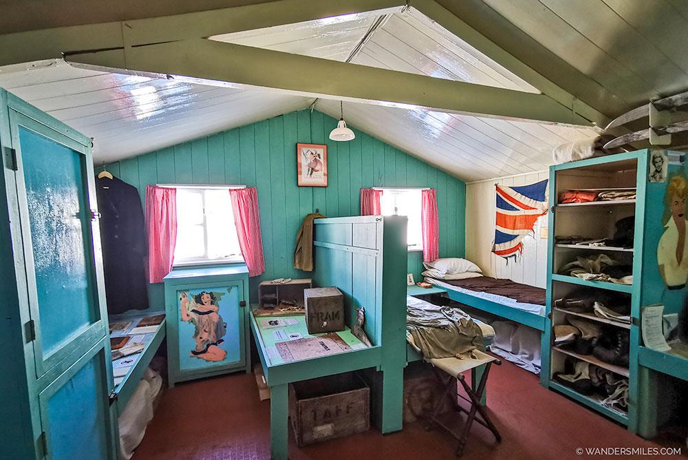 Bedroom in Living Museum, Port Lockroy Antarctica