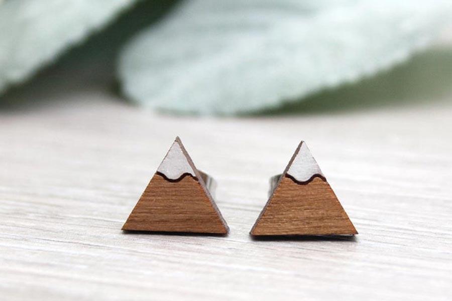 Sustainable Mountain Earrings